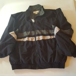 Large Bill Blass Mens Full Zip Windbreaker Jacket